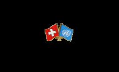 Freundschaftspin Schweiz - UNO Vereinte Nationen - 22 mm