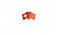 Freundschaftspin Schweiz - Vietnam - 22 mm
