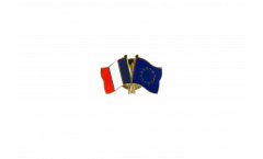 Freundschaftspin Frankreich - Europäische Union EU - 22 mm