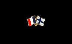 Freundschaftspin Frankreich - Finnland - 22 mm