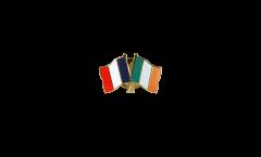 Freundschaftspin Frankreich - Irland - 22 mm
