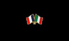 Freundschaftspin Frankreich - Italien - 22 mm