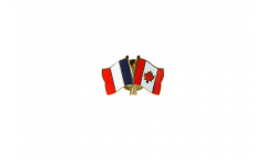 Freundschaftspin Frankreich - Kanada - 22 mm