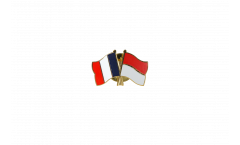 Freundschaftspin Frankreich - Monaco - 22 mm