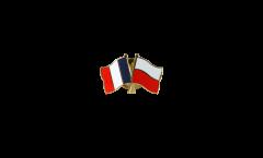 Freundschaftspin Frankreich - Polen - 22 mm