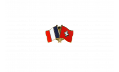 Freundschaftspin Frankreich - Schweiz - 22 mm