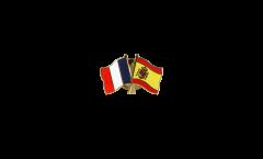 Freundschaftspin Frankreich - Spanien - 22 mm