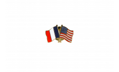 Freundschaftspin Frankreich - USA - 22 mm