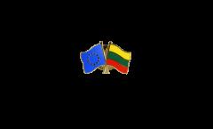 Freundschaftspin Europa - Litauen - 22 mm