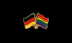 Freundschaftspin Deutschland - Regenbogen - 22 mm