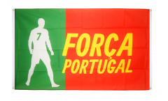 Balkonflagge Fanflagge Portugal Forca - 90 x 150 cm