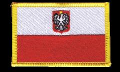 Aufnäher Polen mit Adler - 8 x 6 cm
