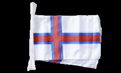 Fahnenkette Färöer-Inseln - 30 x 45 cm