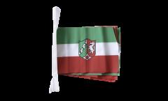 Fahnenkette Deutschland Nordrhein-Westfalen - 15 x 22 cm