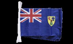 Fahnenkette Turks- und Caicosinseln - 30 x 45 cm