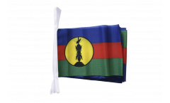 Fahnenkette Frankreich Neukaledonien Kanaky - 15 x 22 cm