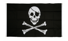 Balkonflagge Pirat Skull and Bones - 90 x 150 cm