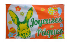 Balkonflagge Joyeuses Pâques - Frohe Ostern - 90 x 150 cm