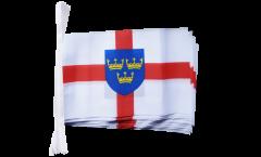 Fahnenkette Großbritannien East Anglia - 15 x 22 cm