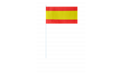 Papierfahnen Spanien ohne Wappen - 12 x 24 cm