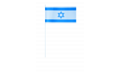 Papierfahnen Israel - 12 x 24 cm