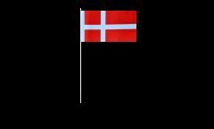 Papierfahnen Dänemark - 12 x 24 cm