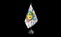 Tischflagge Happy Birthday 50 - 10 x 15 cm