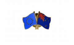Freundschaftspin Europa - Neuseeland - 22 mm