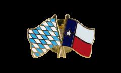 Freundschaftspin Bayern - USA Texas - 22 mm
