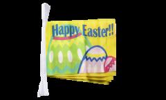 Fahnenkette Happy Easter - 15 x 22 cm