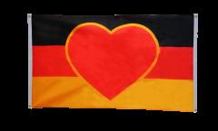 Balkonflagge Herzflagge Deutschland - 90 x 150 cm