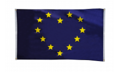 Balkonflagge Herzflagge Europa - 90 x 150 cm