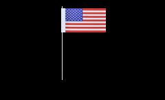 Papierfahnen USA - 12 x 24 cm