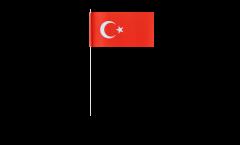 Papierfahnen Türkei - 12 x 24 cm