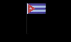 Papierfahnen Kuba - 12 x 24 cm