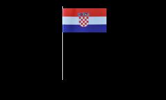 Papierfahnen Kroatien - 12 x 24 cm