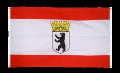 Balkonflagge Deutschland Berlin mit Krone - 90 x 150 cm