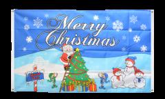 Balkonflagge Merry Christmas Nordpol - 90 x 150 cm