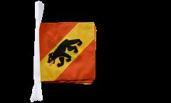 Fahnenkette Schweiz Kanton Bern - 30 x 30 cm