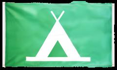 Balkonflagge Camping - 90 x 150 cm