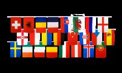 Flaggenkette EM 2016 - 15 x 22 cm