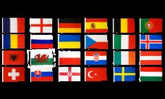 Flaggen Set EM 2016 - 150 x 250 cm