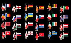 Tischflaggen Set EM 2016 - 15 x 22 cm