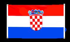 Balkonflagge Kroatien - 90 x 150 cm
