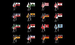 Tischfahnen Set Deutschland 16 Bundesländer - 10 x 15 cm