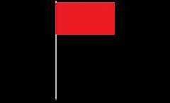 Papierfahnen Einfarbig Rot - 12 x 24 cm