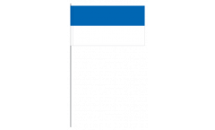 Papierfahnen Blau-Weiß - 12 x 24 cm