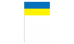 Papierfahnen Ukraine - 12 x 24 cm