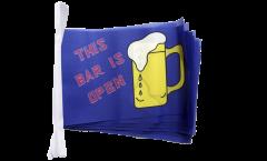 Fahnenkette Bier This Bar is Open - 15 x 22 cm
