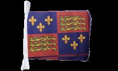 Fahnenkette Großbritannien Royal Banner 1485-1547 Heinrich VII. und Heinrich VIII. - 15 x 22 cm